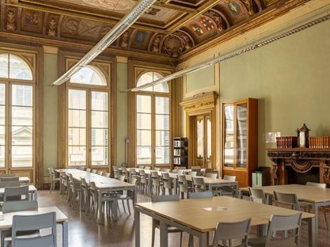 Sala lettura biblioteca Balbi 6 prima